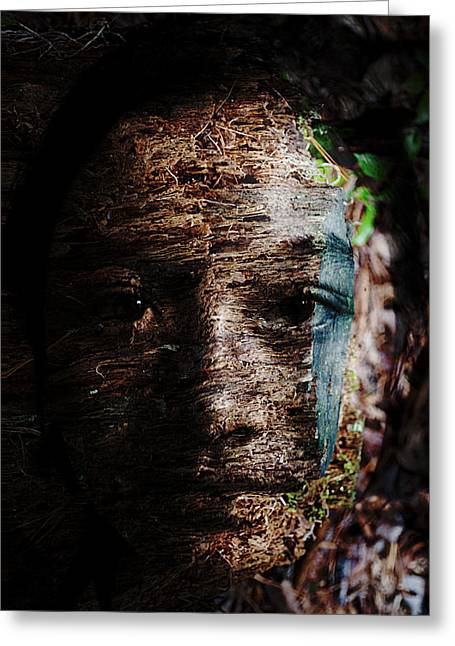 Eyes Greeting Cards - Waldgeist Greeting Card by Christopher Gaston