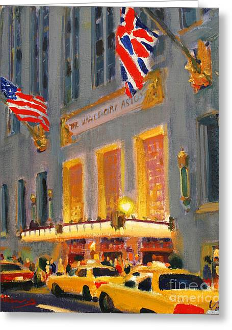 New York Sculptures Greeting Cards - Waldorf-Astoria Greeting Card by Vladimir Kozma