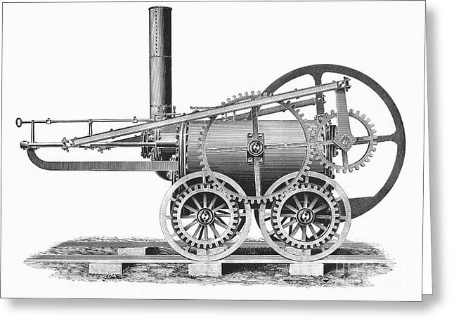 Trevithick Greeting Cards - Wales: Locomotive, 1804 Greeting Card by Granger