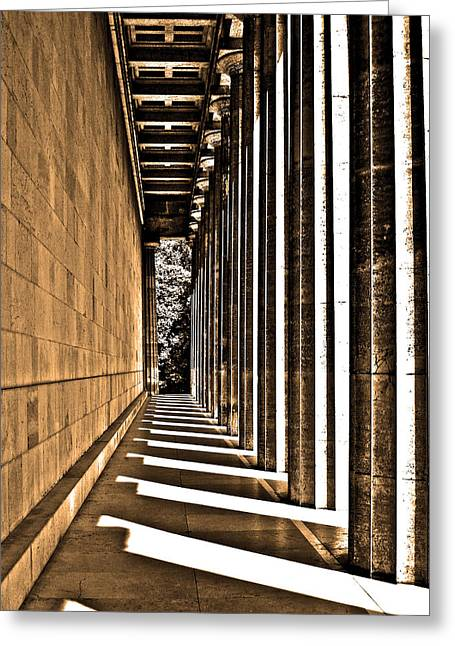 Oberpfalz Greeting Cards - Walhalla Colonnade ... Greeting Card by Juergen Weiss