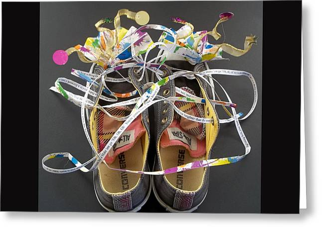 Healing Trauma Greeting Cards - Walk a Mile in Her Shoes Greeting Card by Anne Cameron Cutri