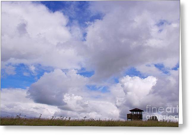 North Sea Greeting Cards - Walk in the Clouds Greeting Card by Angela Doelling AD DESIGN Photo and PhotoArt