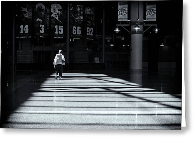 Lambeau Field Greeting Cards - Walk of Fame Greeting Card by Algernon Thompson