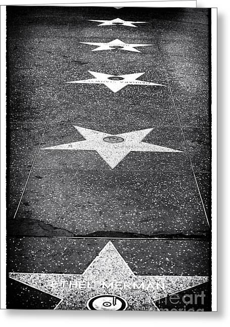 Hollywood Walk Of Fame Greeting Cards - Walk of Fame Greeting Card by John Rizzuto