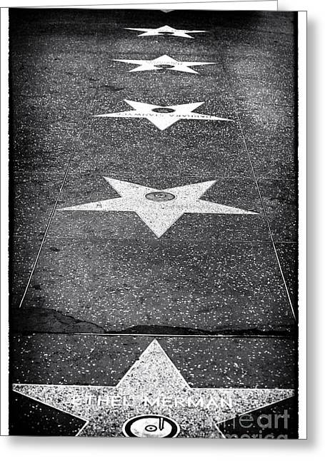 Walk Of Fame Greeting Card by John Rizzuto
