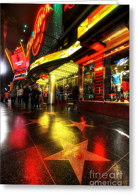 Cafe City Lights Greeting Cards - Walk Of Fame Greeting Card by Yhun Suarez