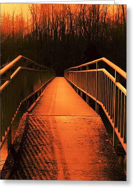 Julian Bralley Greeting Cards - Walk of Fire Greeting Card by Julian Bralley