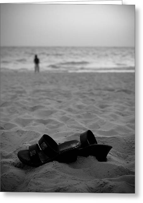 Shoes Photographs Greeting Cards - Walk on the Beach Greeting Card by Sebastian Musial