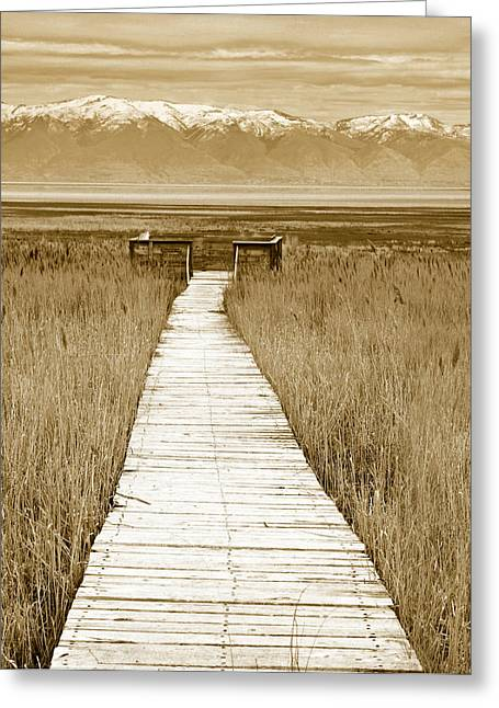 Walk Alone Greeting Cards - Walk With Me 2 Greeting Card by Marilyn Hunt