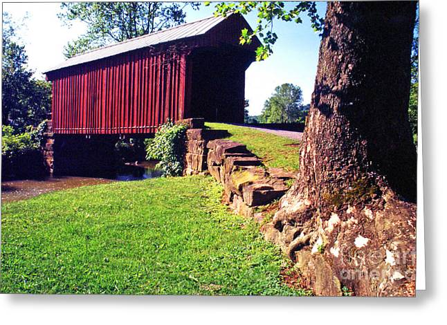 Covered Bridge Greeting Cards - Walkersville Covered Bridge Greeting Card by Thomas R Fletcher