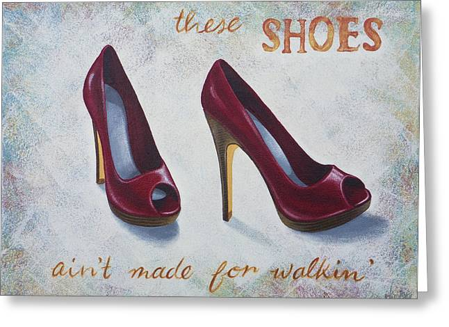 Sexy Shoes Greeting Cards - Walkin shoes Greeting Card by Nicola Hill