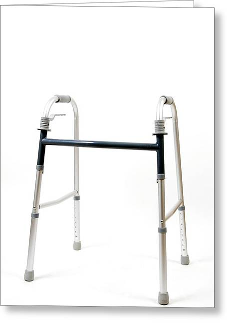 Impairment Greeting Cards - Walking Aid Greeting Card by Photostock-israel
