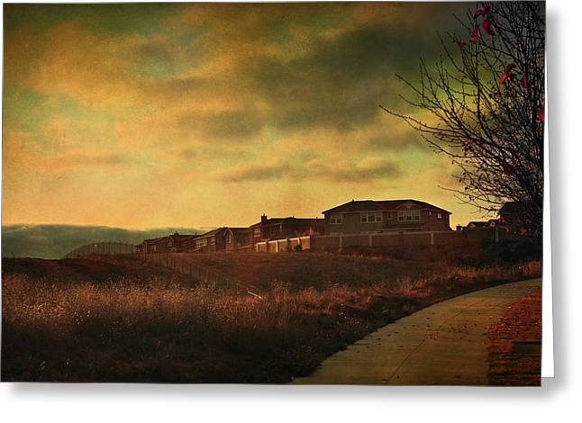 Walking Alone Greeting Card by Laurie Search