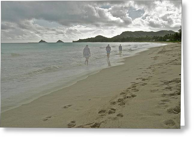 Purchase Art Greeting Cards - Walking Alone Greeting Card by Michael Peychich