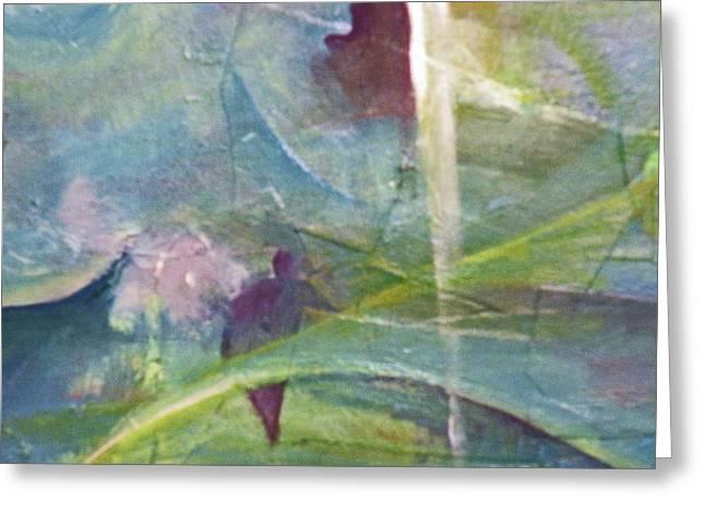 Robert Daniels Paintings Greeting Cards - Walking Between Worlds Greeting Card by Robert Daniels