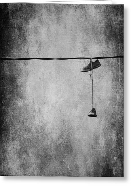 Edmonton Greeting Cards - Walking On A Wire Greeting Card by Jerry Cordeiro