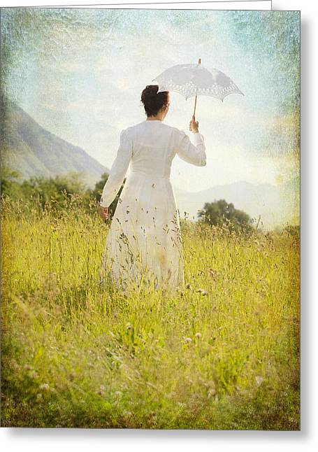 Turf Greeting Cards - Walking On The Meadow Greeting Card by Joana Kruse