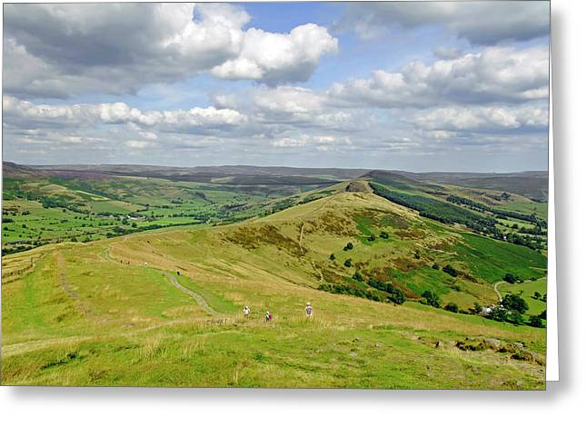 Nature Greeting Cards - Walking The Great Ridge Greeting Card by Rod Johnson