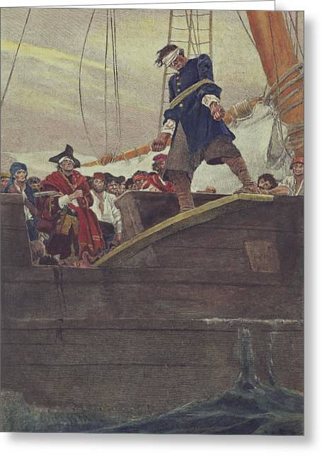 Adventure Of The Seas Greeting Cards - Walking the Plank Greeting Card by Howard Pyle