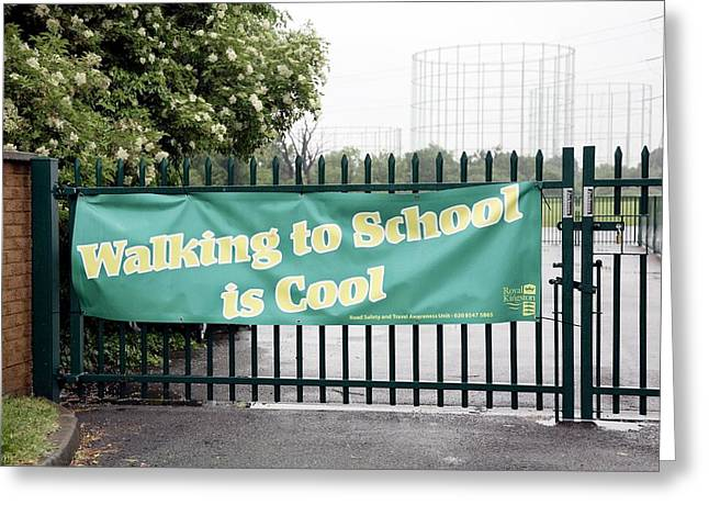 Kingston Greeting Cards - Walking To School Campaign Greeting Card by Victor De Schwanberg