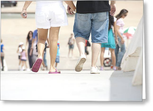 Rep Greeting Cards - Walking together Greeting Card by Marcelo Calil