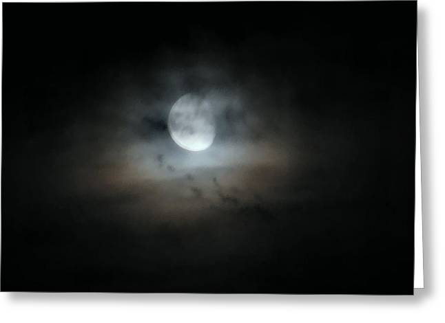 Mystifying Greeting Cards - Walking With The Moon Greeting Card by Rory Sagner