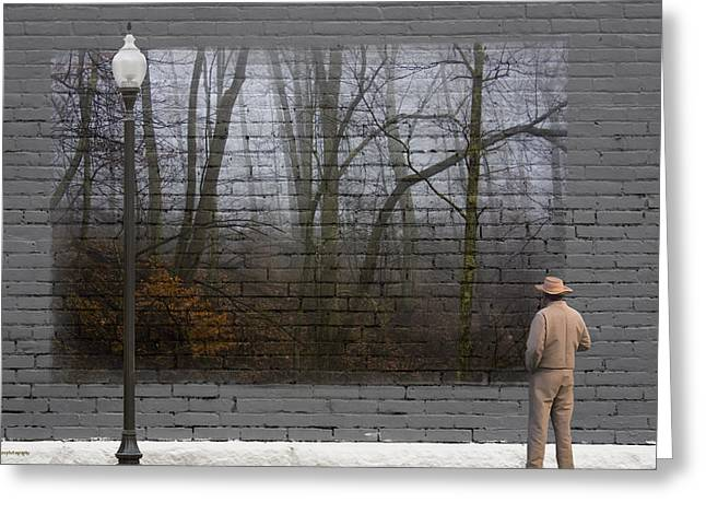 Urban Man Greeting Cards - Wall Art Greeting Card by Ron Jones