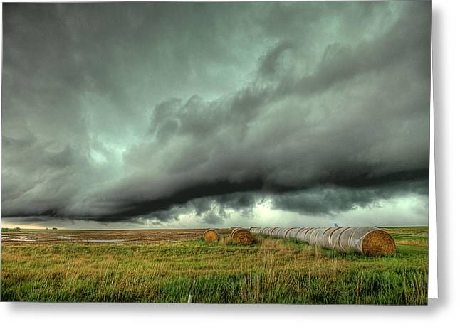 Rotation Photographs Greeting Cards - Wall Cloud Greeting Card by Thomas Zimmerman
