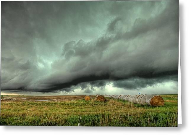 Wall Cloud Greeting Card by Thomas Zimmerman