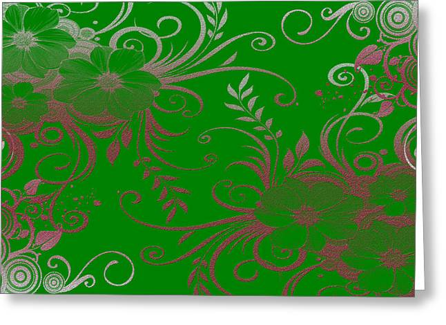 Digital Paint Greeting Cards - Wall Flower 2 Greeting Card by Evelyn Patrick