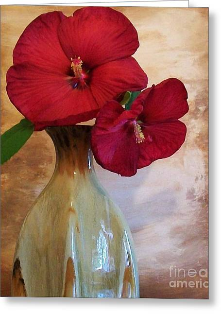 Flower Still Life Prints Greeting Cards - Wall Flowers Greeting Card by Marsha Heiken