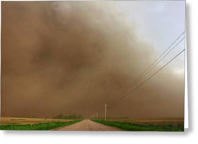 Gusts Greeting Cards - Wall O Dirt Greeting Card by Chris  Allington