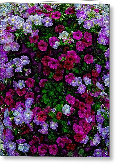 Small Flowers Greeting Cards - Wall of Florets Greeting Card by Bill Tiepelman