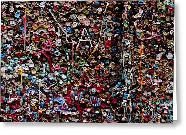 Wall of gum Greeting Card by Garry Gay