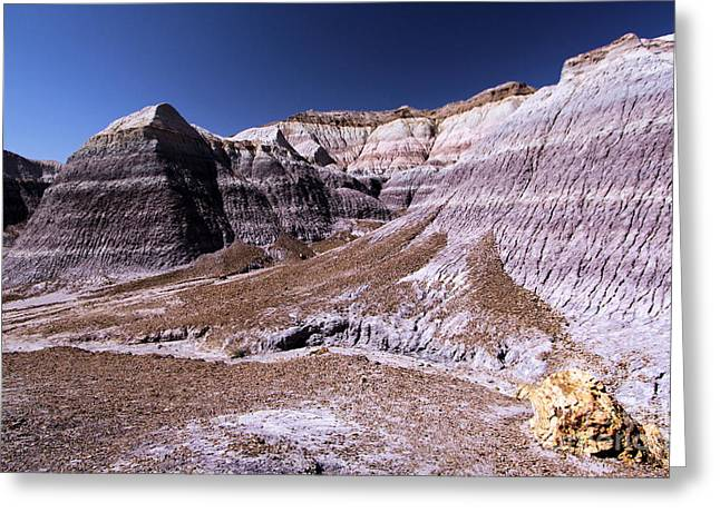 Petrified Forest National Park Greeting Cards - Wall Of Purple Greeting Card by Adam Jewell