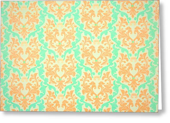 Abstract Style Greeting Cards - Wall paper Greeting Card by Tom Gowanlock
