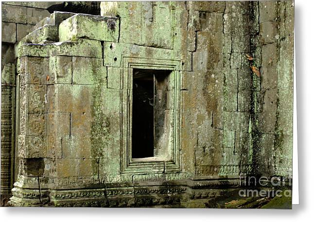 Civilization Pyrography Greeting Cards - Wall Ta Prohm Greeting Card by Bob Christopher
