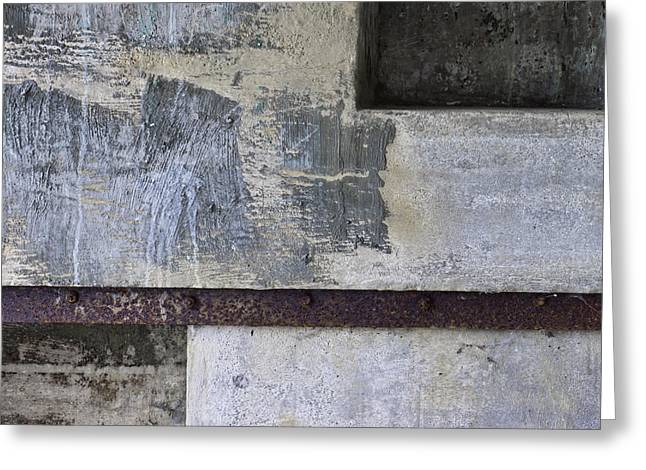 Horizontal Wall Art Greeting Cards - Wall Texture Number 12 Greeting Card by Carol Leigh