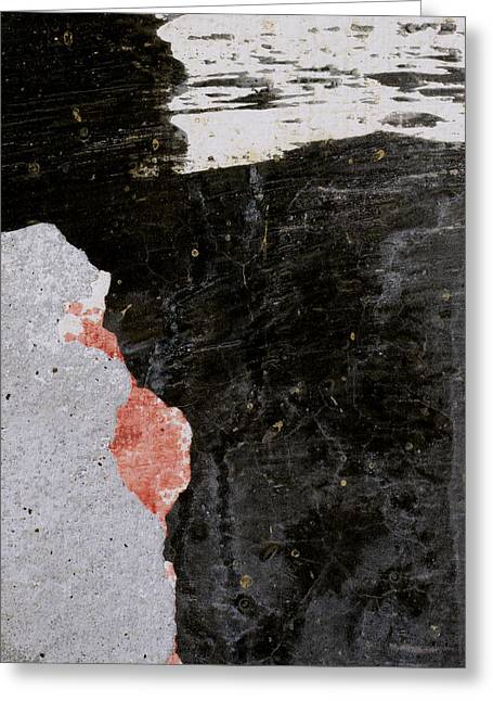 Wall Texture Number 6 Greeting Card by Carol Leigh