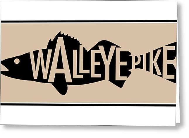 Walleye Pike Greeting Card by Geoff Strehlow