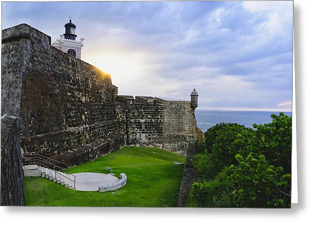 Old San Juan Greeting Cards - Walls of Fort San Felipe Del Morro Greeting Card by George Oze