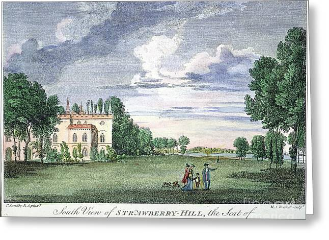 Strawberry Hill Greeting Cards - Walpole Home, 1775 Greeting Card by Granger