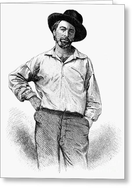 Leaves Of Grass Greeting Cards - Walt Whitman (1819-1892) Greeting Card by Granger