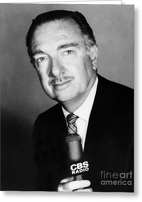 Anchorman Greeting Cards - Walter Cronkite (1916-2009) Greeting Card by Granger