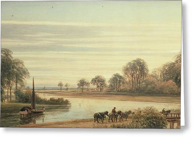 River Paintings Greeting Cards - Walton on Thames Greeting Card by Peter de Wint