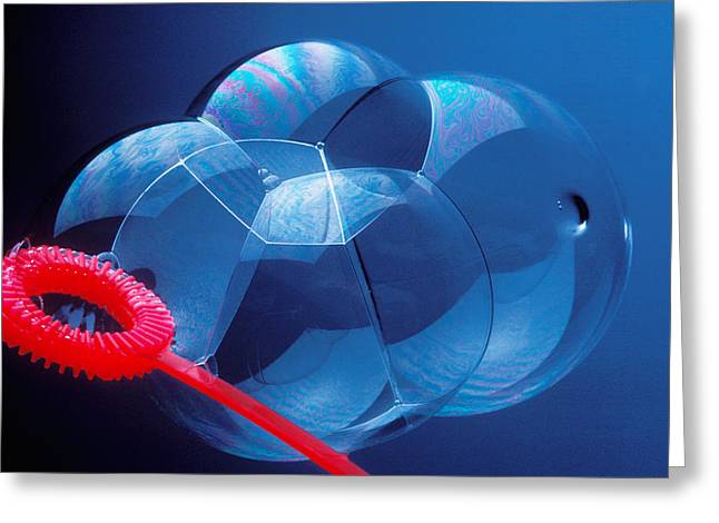 Transparency Greeting Cards - Wand making bubbles Greeting Card by Garry Gay