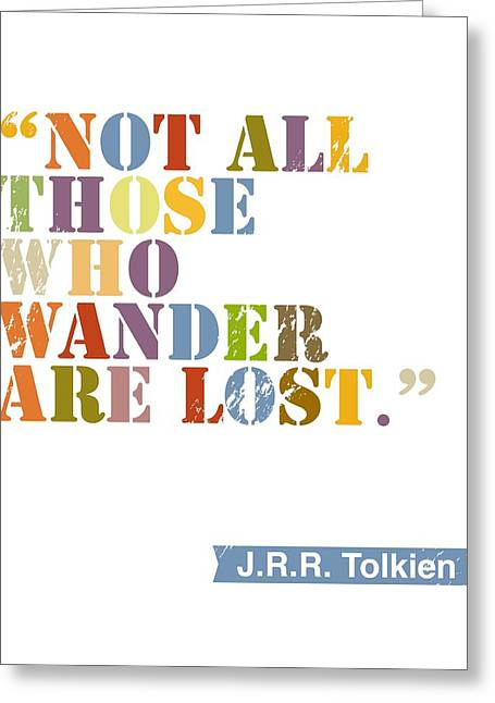 Lord Of The Rings Greeting Cards - Wanderlust Greeting Card by Cindy Greenbean