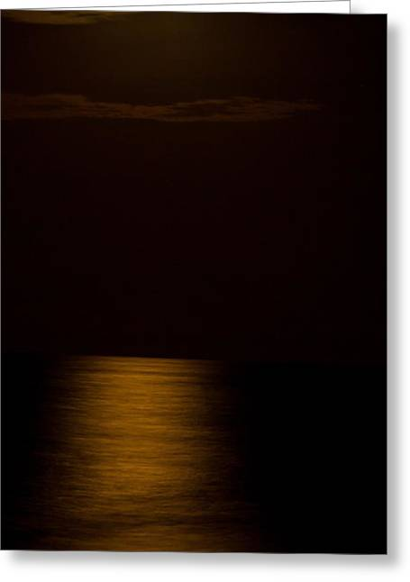 Virginia Beach Greeting Cards - Waning Crescent Moon Greeting Card by David Hahn