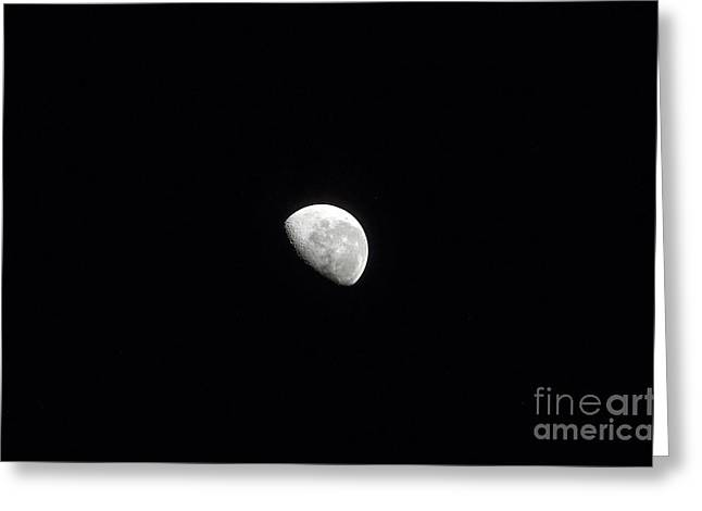 Waning Moon Greeting Cards - Waning Moon Greeting Card by Stocktrek Images