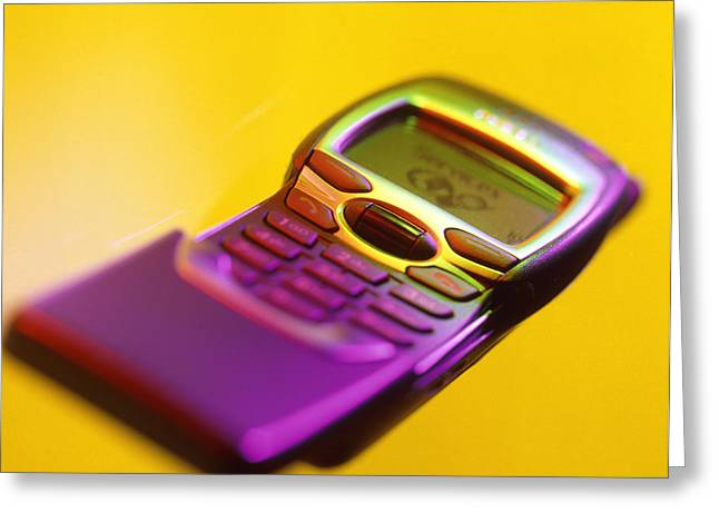 Cellphone Photographs Greeting Cards - Wap Mobile Telephone Greeting Card by Tek Image